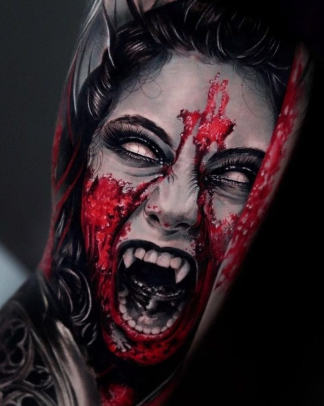 Tattoo Vampire Contemporary Realism