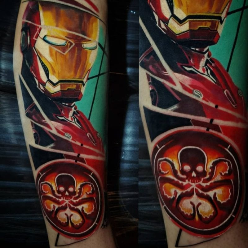 Tattoo Iron Man realismo