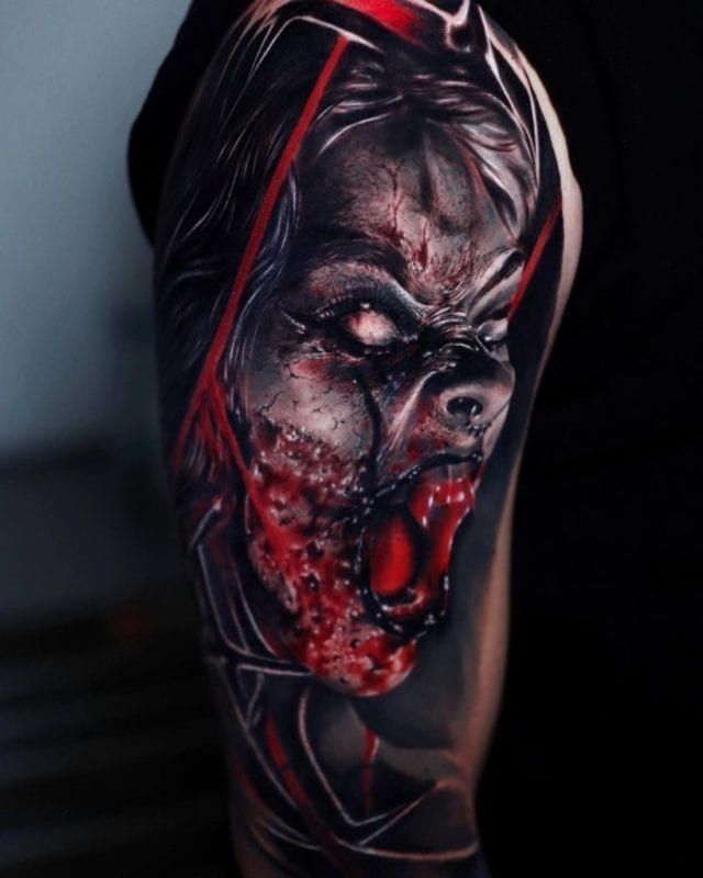 Tattoo EXTREME Dark Fantasy realismo
