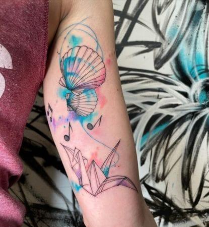 Tattoo acuarela sketch
