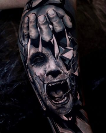 Tattoo surreal contemporary vision