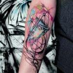 Tattoo sketch acuarela