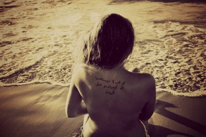 Peligros de exponer los tatuajes al sol