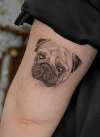 Tattoo micro realismo perro